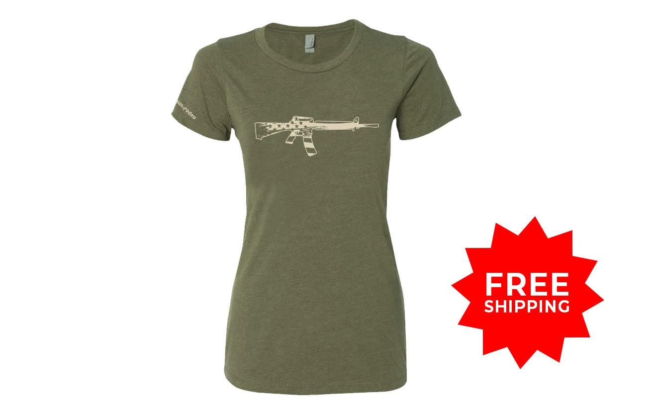Beretta Red Logo Womens T Shirt Ladies 2nd Amendment Pro Gun Rifle Pistol New