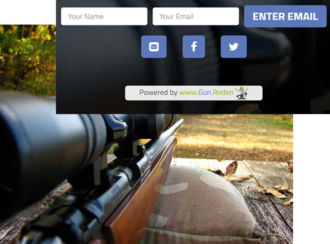 Gun.Rodeo's Giveaway Gateway Platform: Email Just Works
