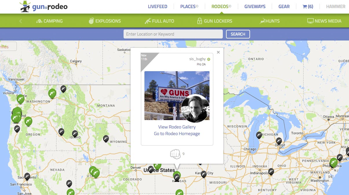 Gun.Rodeo's RODEOFEED: Geo-Location helps engage customers and determine marketing outreach